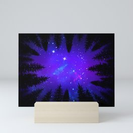 Magical Forest Galaxy Night Sky Mini Art Print