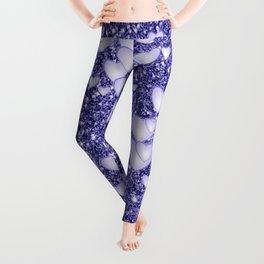 Hearts on sparkling Glitter Print,blue Leggings
