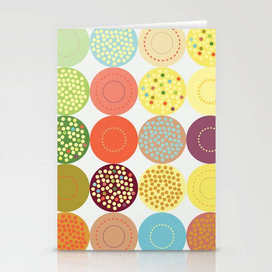 Circle pattern Stationery Cards