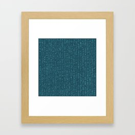 Hieroglyphics Moonstone BLUE / Ancient Egyptian hieroglyphics pattern Framed Art Print