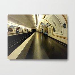 Le métro Metal Print