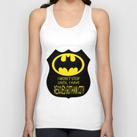 gotham Tank Tops featuring Gotham City by Veronica Ventress