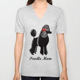 Poodle Mom Unisex V-Neck