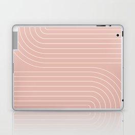 Minimal Line Curvature - Vintage Pink Laptop & iPad Skin