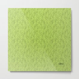 Feathered Flocks - Avocado Metal Print