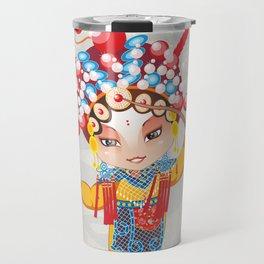 Beijing Opera Character HuSanNiang Travel Mug
