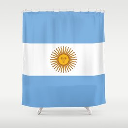 Argentina Flag Shower Curtain