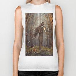 Raven in forest Biker Tank