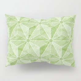 Geodesic Palm_Green Pillow Sham