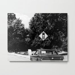 Neighborhood Scene Metal Print