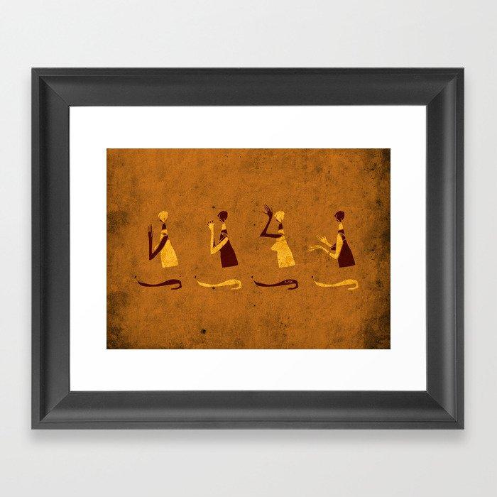 Forms of Prayer - Yellow Framed Art Print