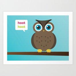 Hoot Hoot Art Print