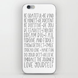 Family Reminders + Values iPhone Skin