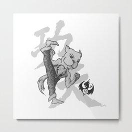 KungFu Zodiac - Dog Metal Print
