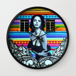 Painted Lady Wall Clock