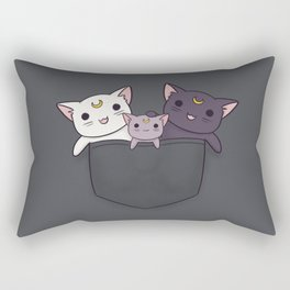 Pocket Kitties (All 3) Rectangular Pillow