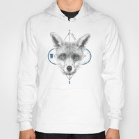 mr fox Hoodies featuring Mr Fox by white soap