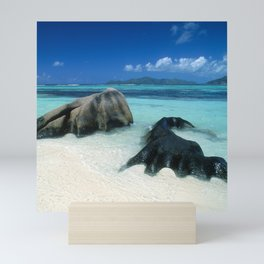 Seychelles Tropical Island Paradise White Sand Beach Mini Art Print