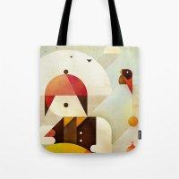 birdman Tote Bags featuring Birdman by Squizzato