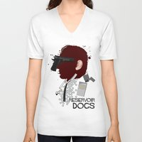 reservoir dogs V-neck T-shirts featuring Reservoir Dogs  by edgarascensao