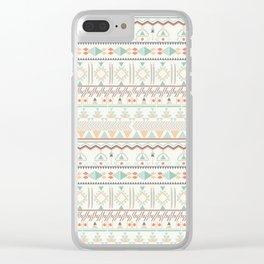 Navajo dreams Clear iPhone Case