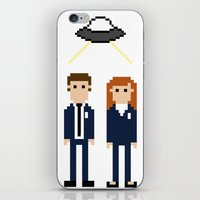 dana scully iPhone & iPod Skins featuring Mulder & Scully by Evelyn Gonzalez