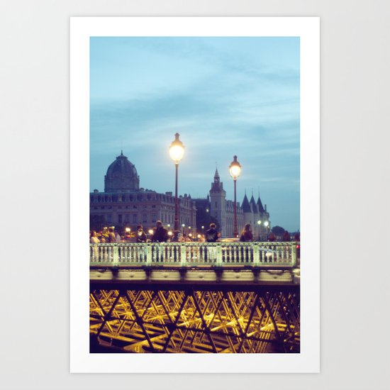 Paris at Night: Pont Neuf Art Print