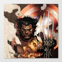 x men Canvas Prints featuring X-MEN by Thorin