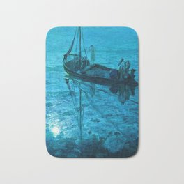 African American Masterpiece 'Disciples See Jesus Walk on Water' by Henry Ossawa Tanner Bath Mat