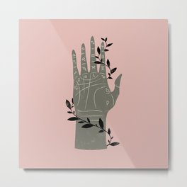 The Palmistry Hand Metal Print