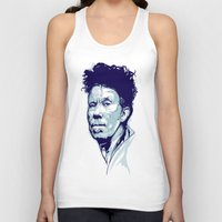 tom waits Tank Tops featuring Tom Waits Portrait by Brian Yap