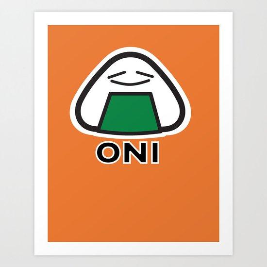 Oni the Onigiri, Kawaii Art Print
