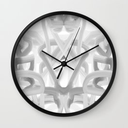 art, only two colors, circles, abstract, young design, forever 16, crazy design Wall Clock
