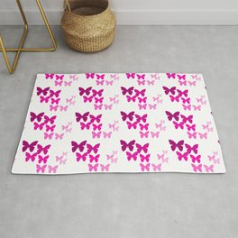 Pink Butterfly Wings Rug