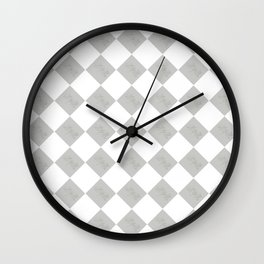 Mr and Mrs (Gray and White) Wall Clock