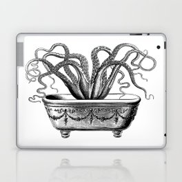 Tentacles in the Tub | Octopus | Black and White Laptop & iPad Skin
