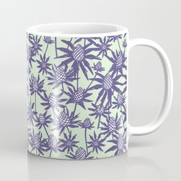 Sea holly in mint and purple Coffee Mug