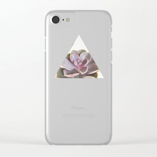Purple Succulent Clear iPhone Case