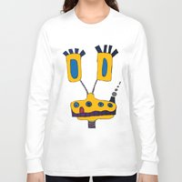yellow submarine Long Sleeve T-shirts featuring yellow submarine giraffe by JBLITTLEMONSTERS