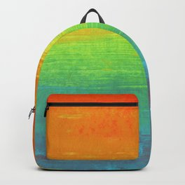 Abstract Rainbow Painting Backpack