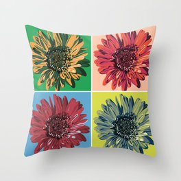 Pop Art Flower Throw Pillow