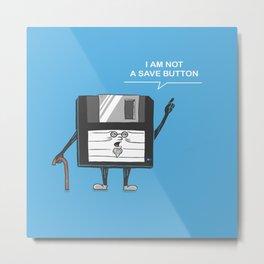 Floppy Disk Metal Print