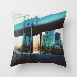 The Golden City Throw Pillow