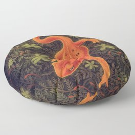 Red Spotted Newt Floor Pillow