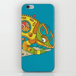 Chameleon, cool wall art for kids and adults alike iPhone Skin