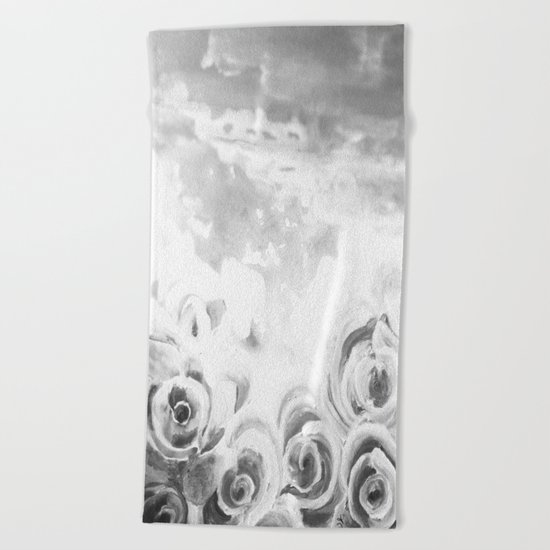 Fading Roses Silver Lining Beach Towel