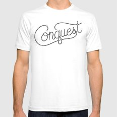 Conquest Mens Fitted Tee SMALL White