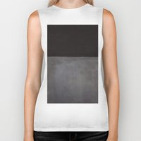 rothko Biker Tanks featuring Mark Rothko Black on Grey by Angelina Fenty