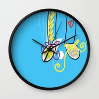 feet Wall Clocks featuring Feet love by andy_panda_