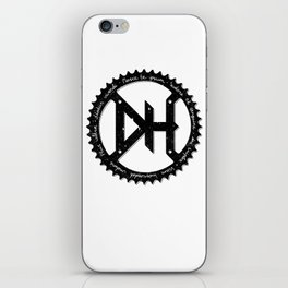 Downhill chainring iPhone Skin